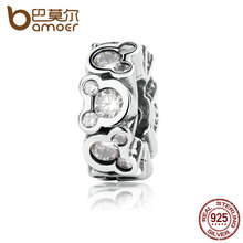 Buy BAMOER Authentic 925 Sterling Silver Popular Disni Miky Around Spacer Charms fit DIY Bracelets Women Jewelry PAS326 for $8.74 in AliExpress store
