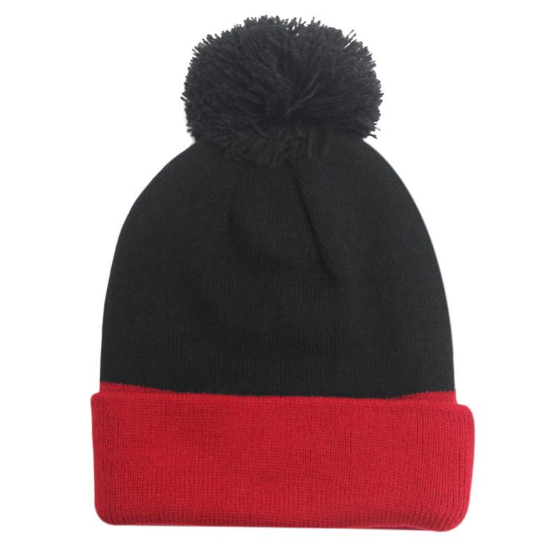 New 2016 Womens Winter Hat Warm Fleece Fur pompom hat bonnet femme Wool Blend Knitted Beanies Female Cap Gorros