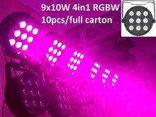 Buy 10xLot DHL Led Par Light 9X10W 4in1 RGBW Par Led Stage Lighting Flat Slim Par Can Strobe Laser Projector DJ Disco DMX Controller for $450.00 in AliExpress store