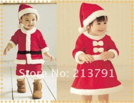 Free shipping Baby Christmas Romper Set/Kids Christmas clothing cotton girl Sanda Masquerade wholesaler hot sales 01(China (Mainland))