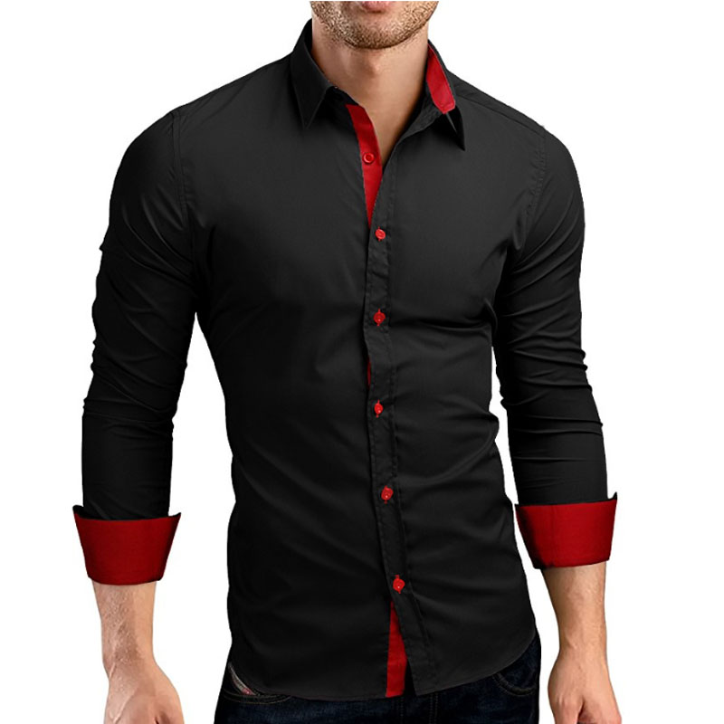 Compare prices on mens black dress shirt online shopping for Shirts online shopping lowest price