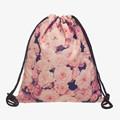 3D Printing Pink Roses drawstring bag Zohra Fashion mochila feminina For School Student European and American