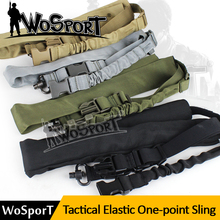 WoSporT Tactical Military Sling One-Point CS Sports Safety Elastic Webbing Adjustable Nylon Rifle Sling Hunting Gun Accessories(China (Mainland))
