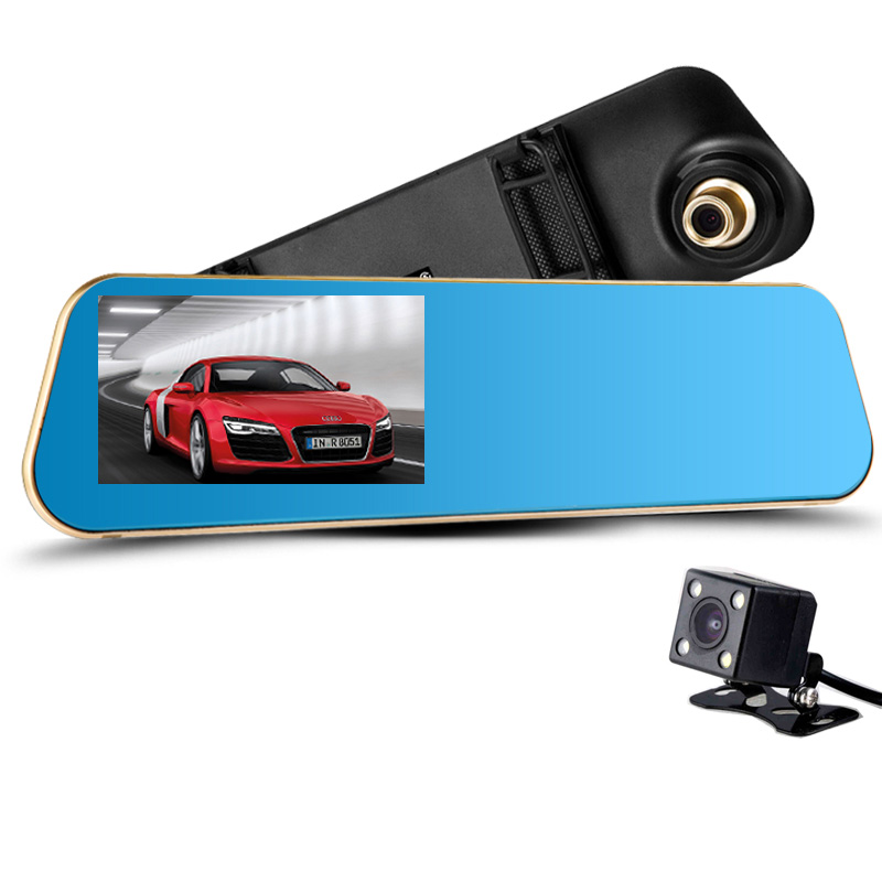 New Full HD 1080P Novatek Car Camera GPS Dvr Blue Rearview Mirror Digital Video Recorder Auto Navigator 170 Degree Wide Angle(China (Mainland))