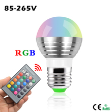 Mini RGB LED Spotlight Bulb 5W AC 110V 220V 16 Colorful Changeable Decor light lamp+IR Remote Controller For birthday gift A50 (China (Mainland))