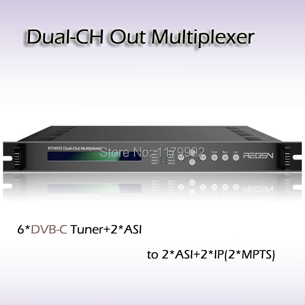 DVB-S2 TO IP gateway Digital TV ASI Multiplexer Professional Receiver Dual-Channel ASI& IP streaming Output RTS4002-T-S2(China (Mainland))