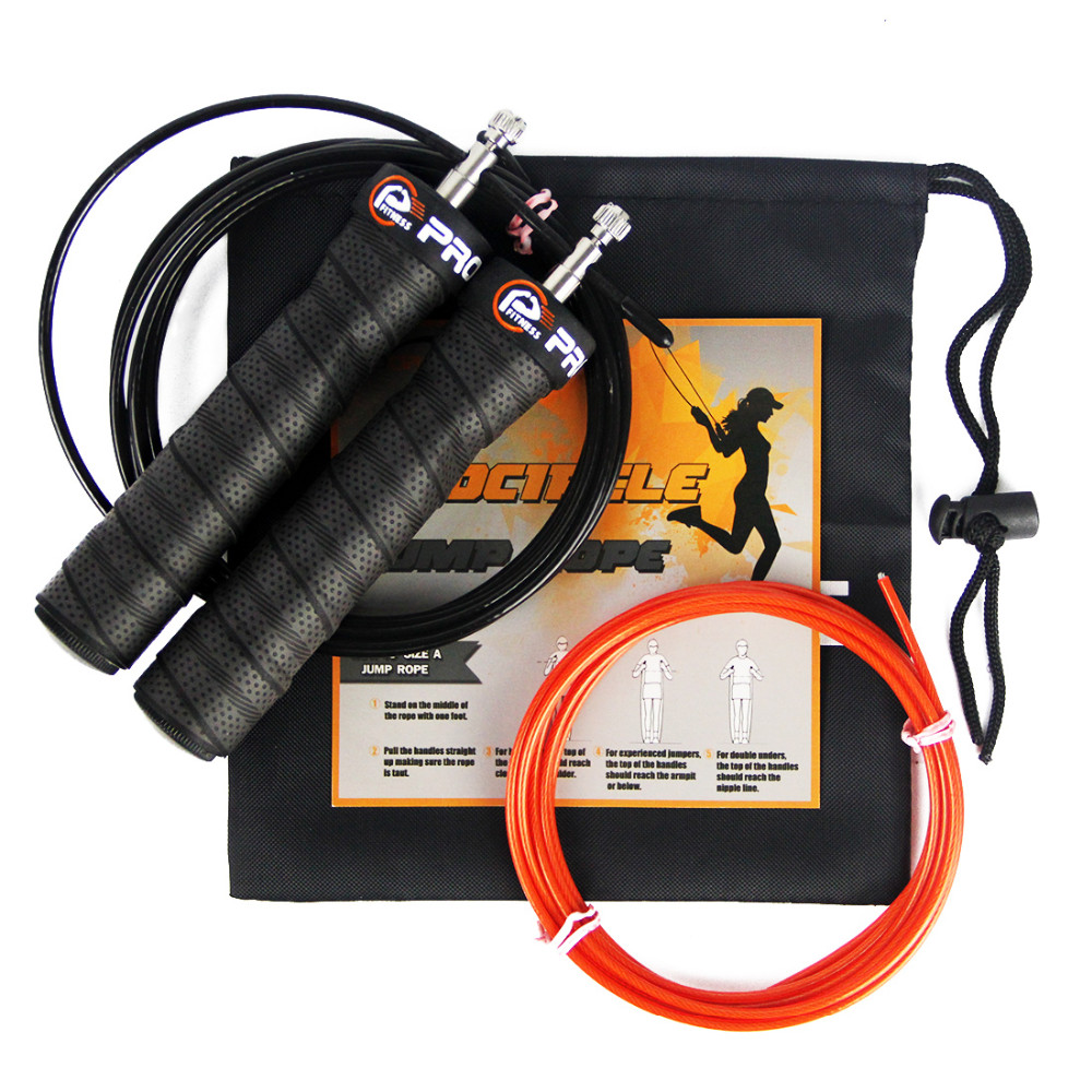 10/' Wire Speed Jump Rope DOUBLE Adjustable Nuts Crossfit MMA Wire Jump Rope