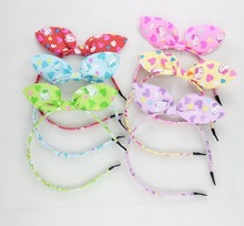 New 2015 Wholesale Kids Band Bow Accessories Children's Baby Girl Hair Accessories Colorful cartoon Flower Hair Head