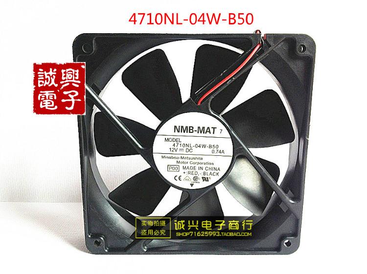 Minebea nmb 12 fan 12025 12v 0.74a dual ball 4710nl-04w-b50(China (Mainland))