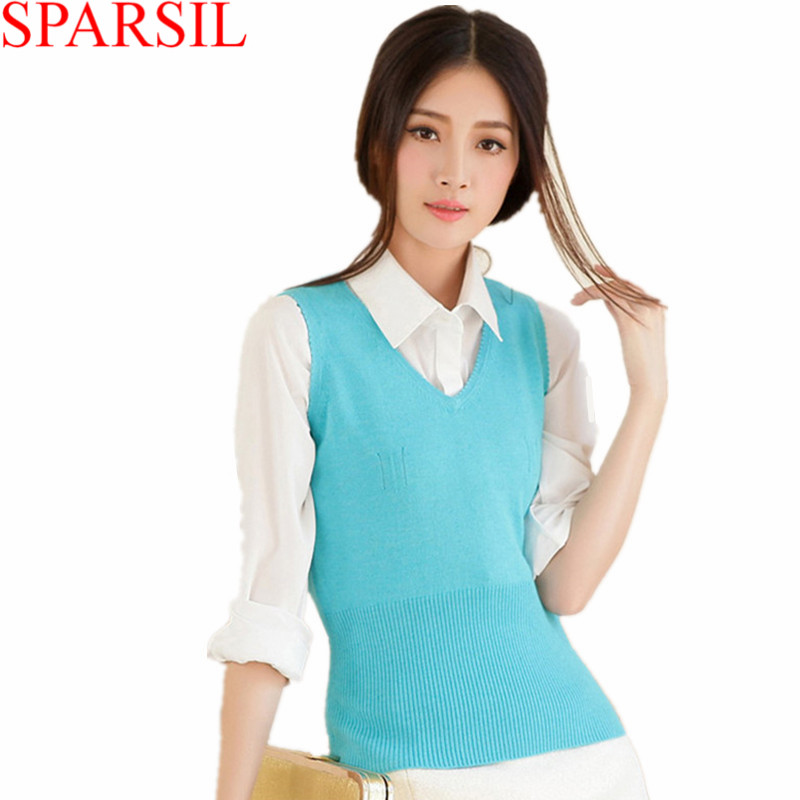 Autumn Women V-Neck Sleeveless Cashmere Knitted Vest Sweater New Fashion Lady Knitwear Jumper 13 Colors High QualityОдежда и ак�е��уары<br><br><br>Aliexpress