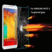 For Samsung Galaxy Note 3 N9000/N9005/N9008 Tempered Glass Film 9H Round Edge High Definition Screen protector Tempered Glass