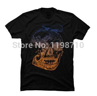 Calavera surf custom men 39 s t shirt free shipping in t for Custom t shirts international shipping