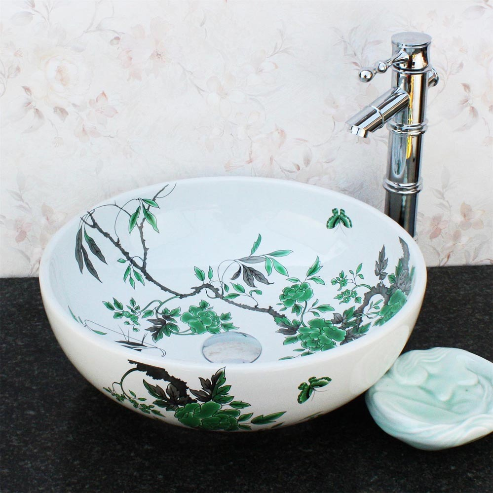 Simple and elegant of jingdezhen ceramics art bathroom table basin pool quality brief wash basin 1101