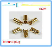 10pairs 6.0mm 6MM gold Bullet Connector banana plug for RC battery ESC Motor fpv drone helicopter quadcopter toy free shipping