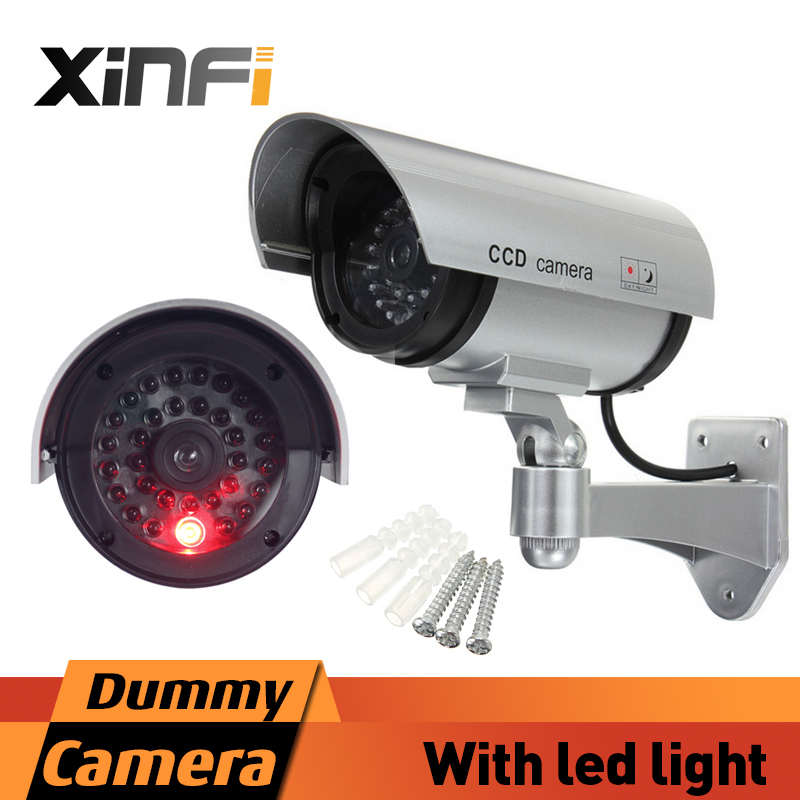 Xinfi fake camera aa battery powered indoor outoodr dummy for Motorized security camera system