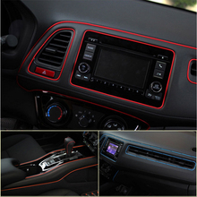 Fashion Auto Car interior Decorative thread stickers Insert type Air Outlet Dashboard Decoration Strip car styling accessories