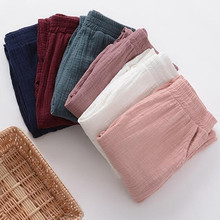 Women Spring Cotton linen Pants 2017 Original pencil Pants Pockets Trousers Casual Solid Color Pleated Vintage plus size M-6XL(China (Mainland))