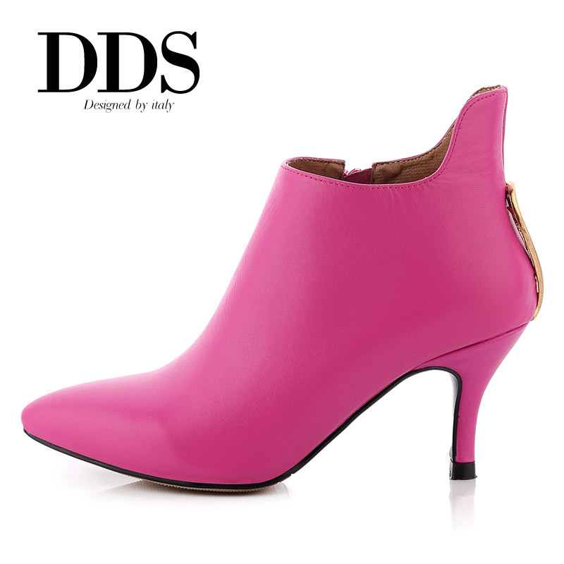 DDS Classical Full Grain Leather Ladys Fashion Boots Buckle Decorated Genuine Leather Women Ankle Boots For Dree/Party/Office<br><br>Aliexpress