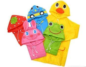 children poncho,kids animal model  raincoat,polyester cute rain coat with bag,10pcs/lot mix colors free shipping