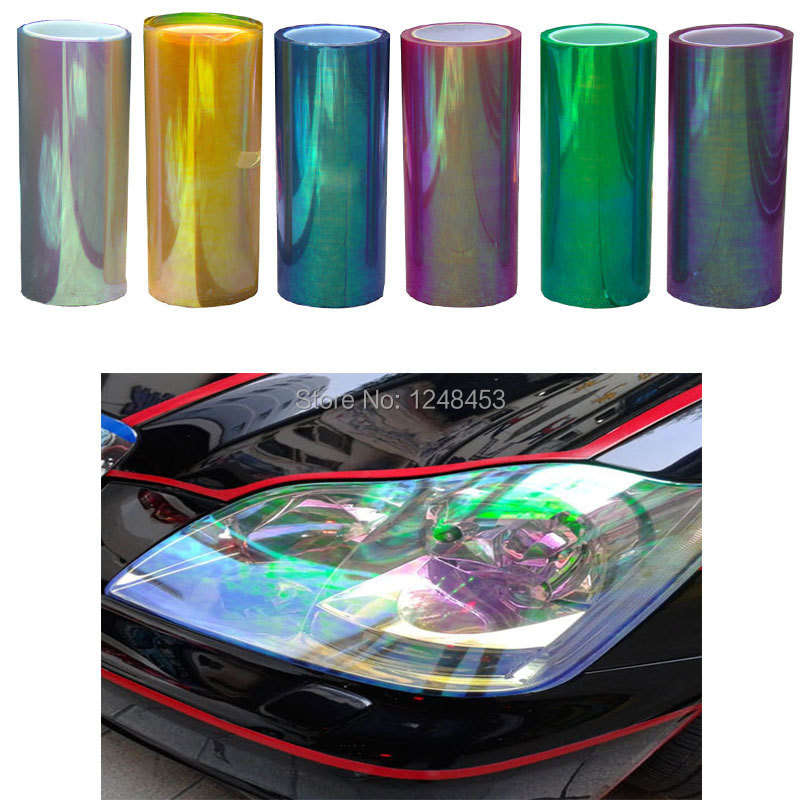 120cm*30cm Shiny Chameleon Auto Car Styling headlights Taillights  film lights  Change Color Car film Stickers Car Accessories(China (Mainland))