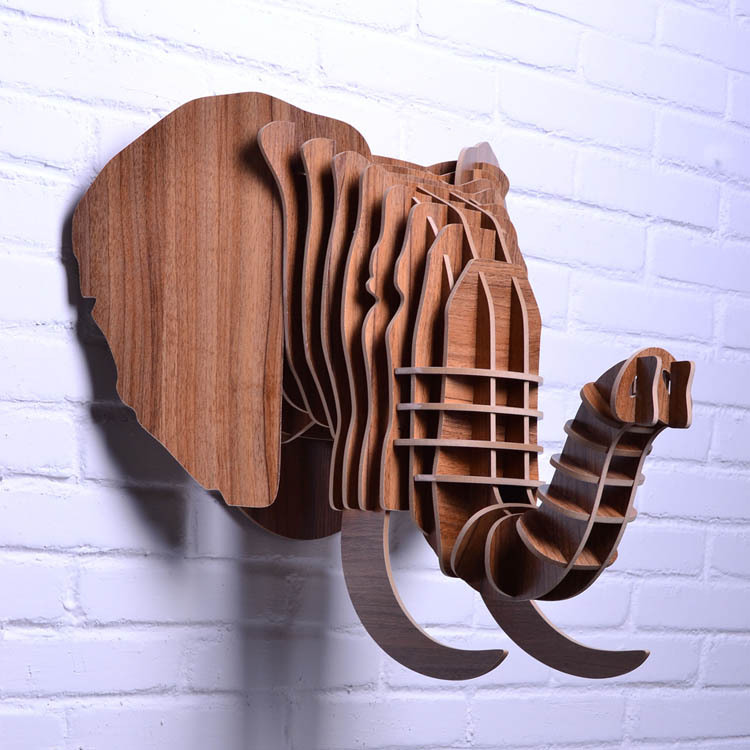 buy diy wooden elephant head for wall