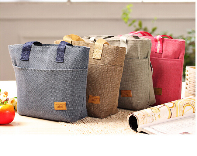 2015 new fashion lunch bags cooler insulated lunch bag for kids women men thermal insulation lunch bag(China (Mainland))