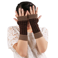 Good looking Fun1015 New Female Knitted Winter Fingerless Gloves Women Warm Mitten Wrist Warmer Hot