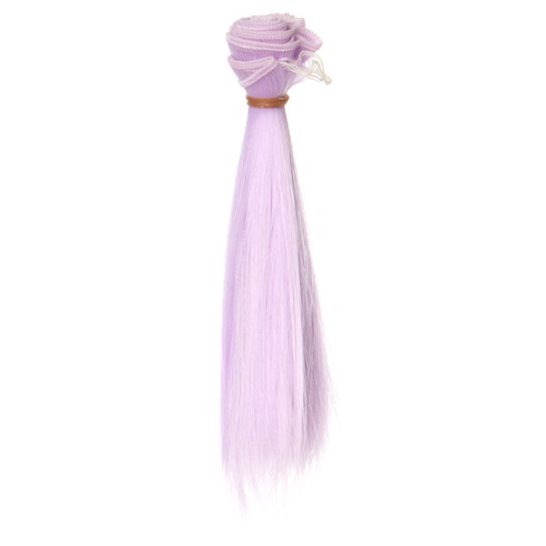 Lavender Straight Hair Extension DIY Hair Wig Hair Piece For BJD Doll(China (Mainland))