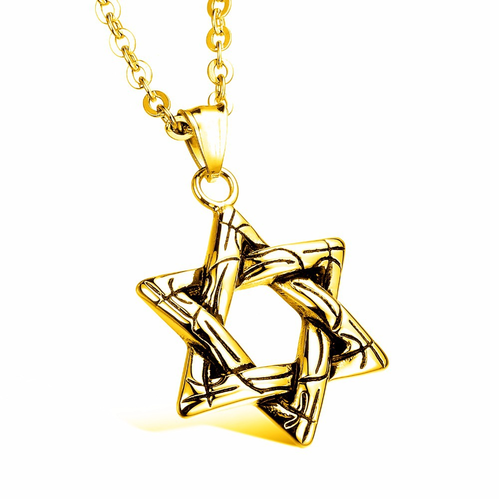 Hexagram pendants necklaces for women magen david pendant for Star of david necklace mens jewelry