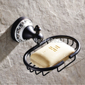 Free Shipping Oil Rubbed Bronze Brass Bathroom Kitchen Soap Dish Basket Wall Mounted