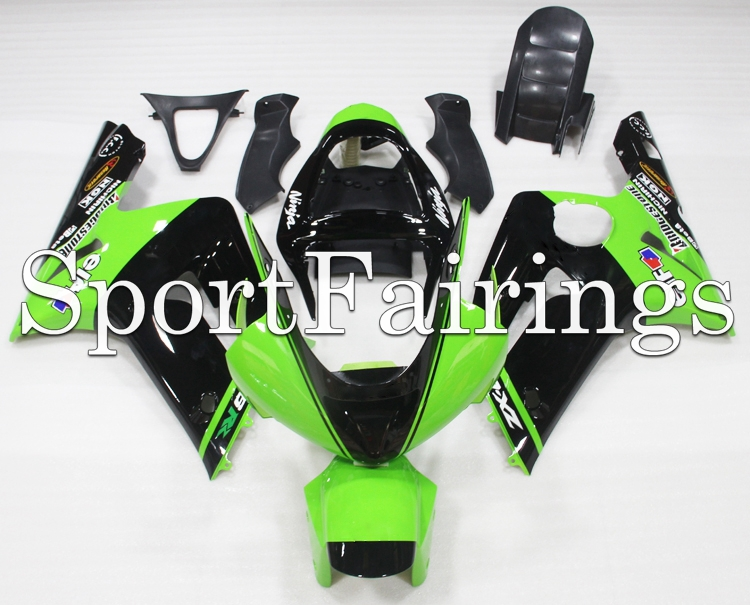 Fairings Fit Kawasaki ZX6R ZX-6R 636 Year 2003 2004 03 04 Sportbike ABS Motorcycle Full Fairing Kit Moto Bodywork Green Black(China (Mainland))