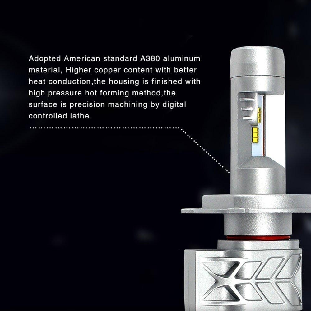 5S 9012 led headlight bulbs 8000LM 80W conversion kit VS Headlights Low Beam Replace HID&Halogen
