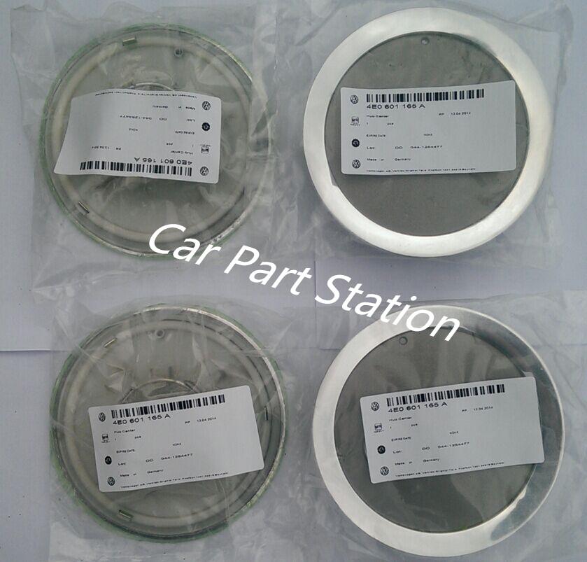 4Piece NEW Center Wheel Cap For A8 A6 S6 s8 alloy 4E0 601 165 A 4E0601165A(China (Mainland))
