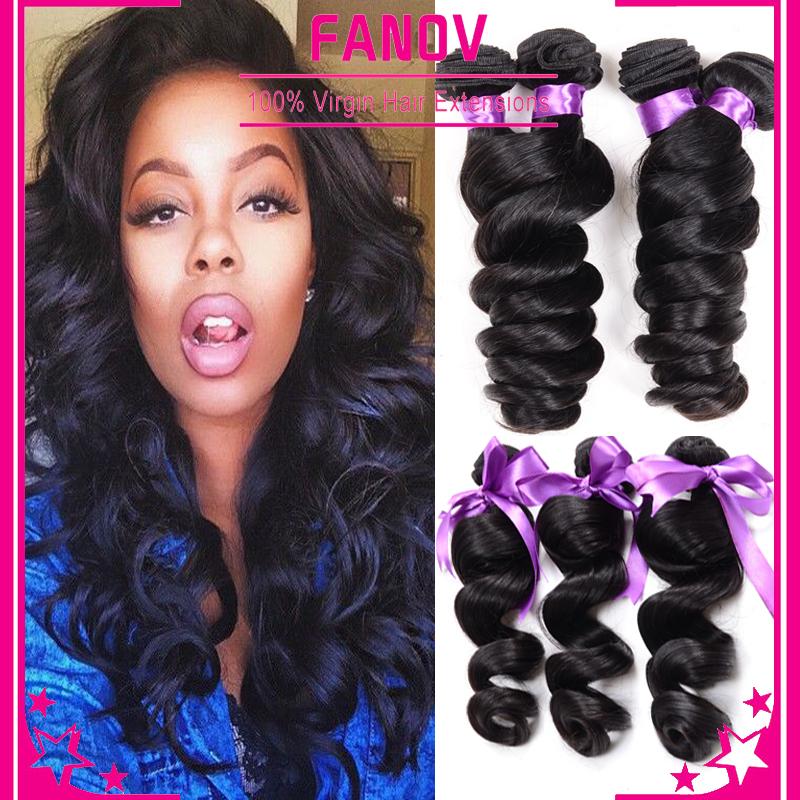 6a unprocessed virgin hair loose wave 3pcs lot brazilian loose wave virgin hair cheap unprocessed loose deep wave weave soft(China (Mainland))