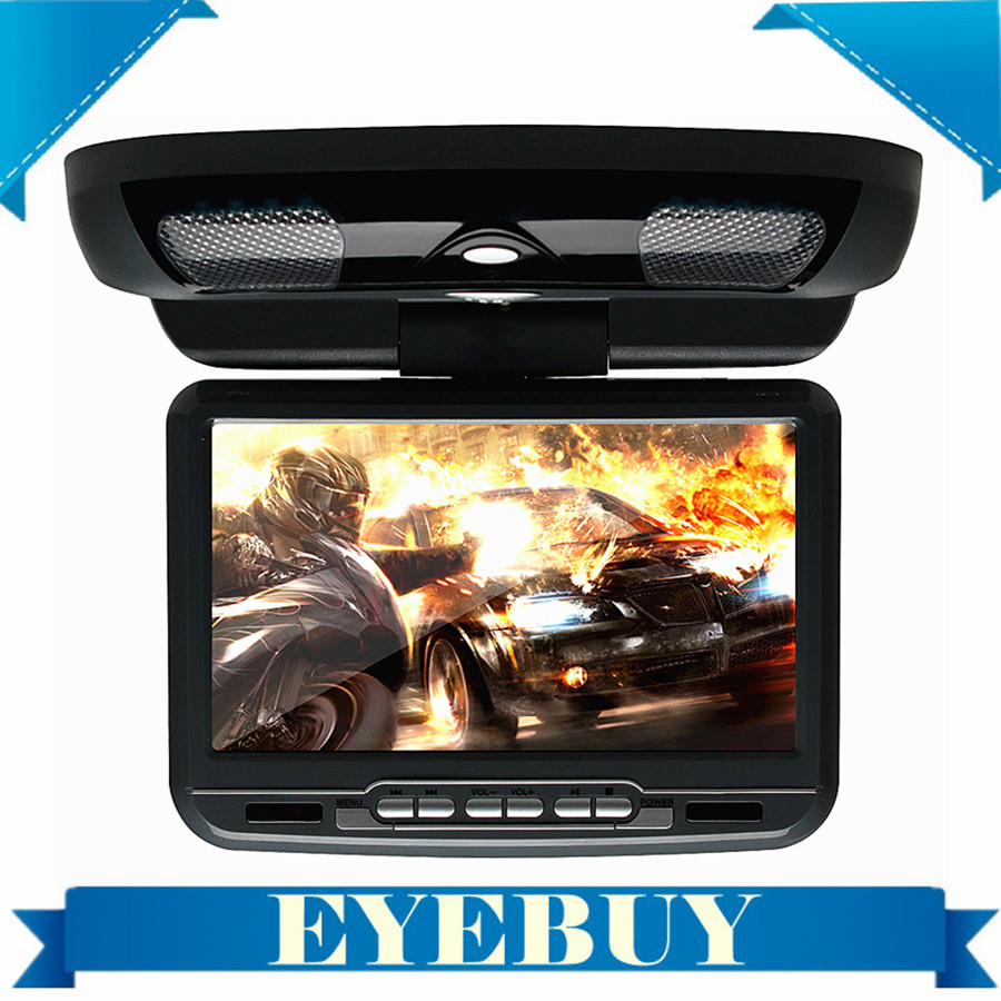 9inch Digital LCD Screen car Roof dvd player auto flip drop down monitor Overhead Ceiling DVD monitor USB SD Game(China (Mainland))