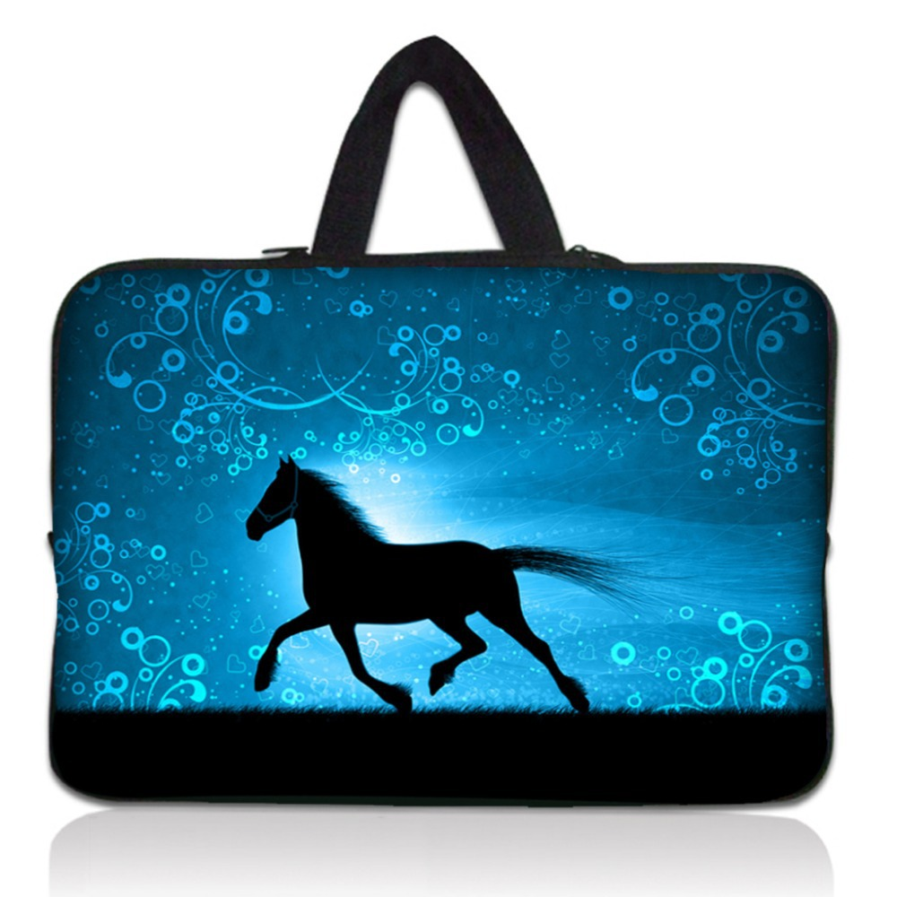 """10"""" Horse Soft Neoprene Laptop Tablet PC Bag Sleeve Carry Case For Samsung Galaxy Note 10.1""""/for Apple iPAD 4 3 2 1(China (Mainland))"""