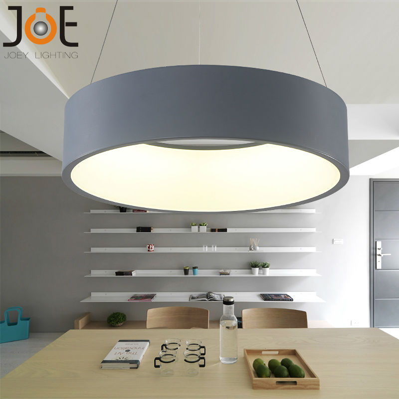 Modern led pendant lights circle suspension for dining room pendant lamps home decoration light - Modern dining room lighting fixtures ...
