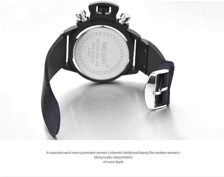 MEGIR Мужчины Часы Календарь Моды Случайные Военные Часы Кварцевые Люксовый Бренд Водостойкой Наручные Часы Бесплатная Доставка