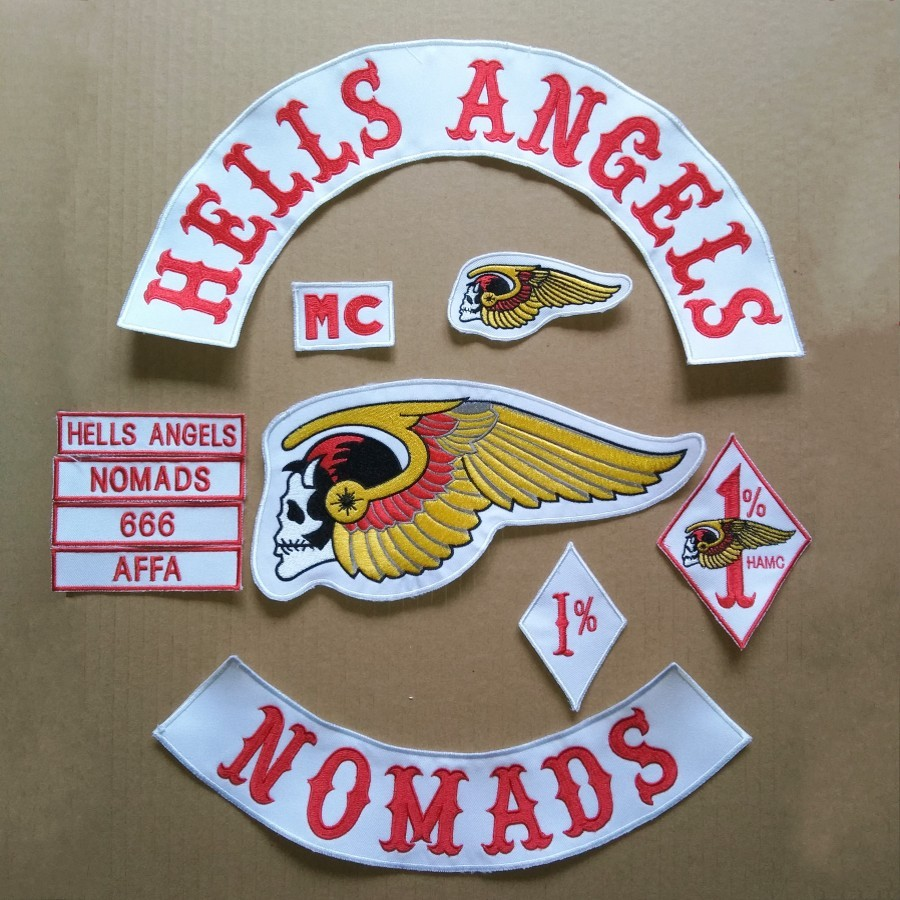 LIVE TO RIDE Motorcycle Hells Angels MC PATCHES Embroidered Sew-On Patch Jacket and Vest Biker Patches(China (Mainland))