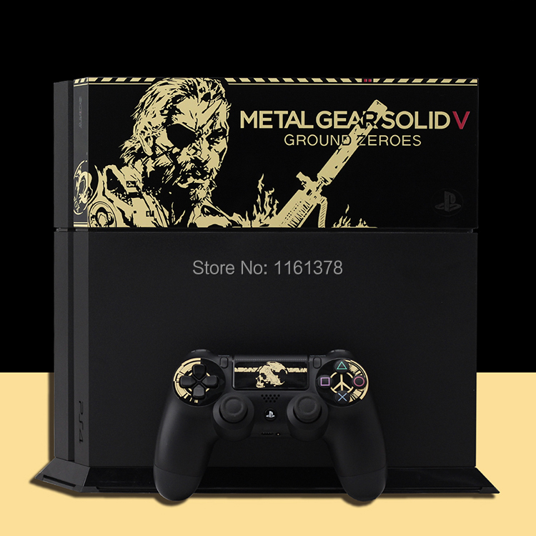 Metal Gear Solid V Game MGS Electrostatic Plastic Decor Skin Sticker for SONY Playstation 4 Decal Stickers for PS 4 for PS4(China (Mainland))