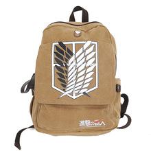 Brand Boys Shingeki no Kyojin Attack on Titan Japanese Cosplay Canvas Backpack Schoolbag Shoulder Bag Knapsack Scouting Legion