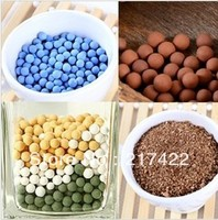 Gardening supplies soilless culture multicolour hydite hydroponic negative ion ceramic carbon ball 8 mm
