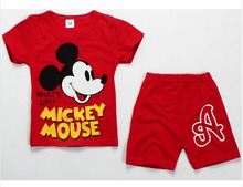 2016 Hot New Summer Children's Two-piece set Cotton Suit Children Suit Children's Clothing Set Girls Boys Sets(China (Mainland))