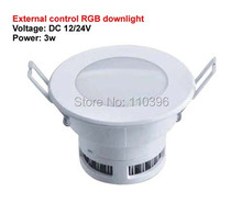 external control 12v 24v 3w rgb downlight lamp ceiling surface down light spot led recessed light 5pcs/lot(China (Mainland))