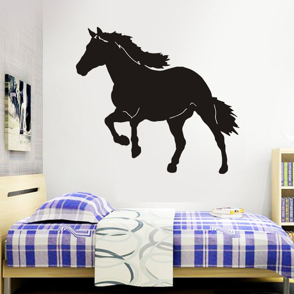 Big horse western wall stickers kids rooms diy wallpaper for Mural lettering