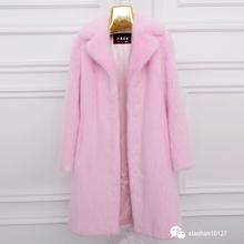 2016 women's autumn and winter mink fur coat medium-long hair slim suit overcoat(China (Mainland))