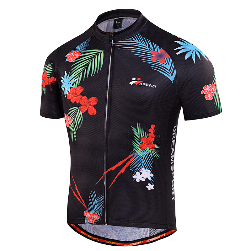 DREAMSPORT Factory Outlets Cycling Jersey 2017 Pro Team MTB Clothing Tight Fit Floral Printed Cycling Clothes Ciclismo(China (Mainland))