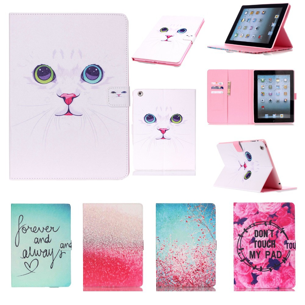 For Cover Apple iPad 2 iPad 3 iPad 4 Smart PU Leather Silicone Case Cover Stand Flip Kids Cover Screen Protector Film+Stylus Pen(China (Mainland))