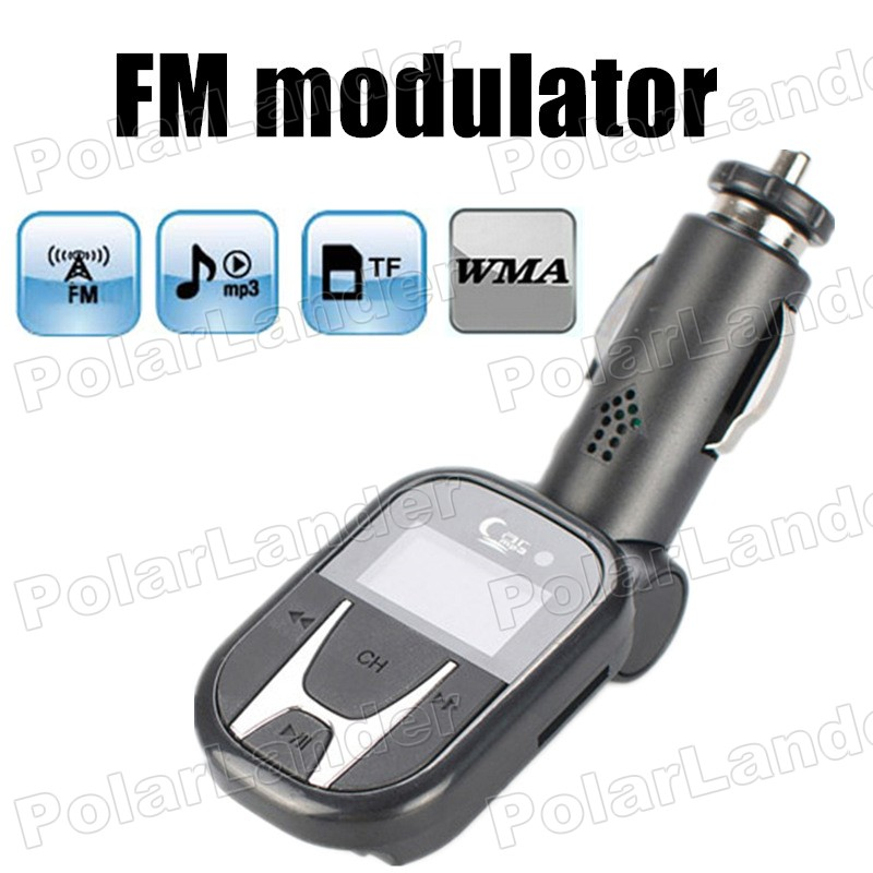 for smartphone PC remote control wireless FM transmitter modulator support TF card U disk car kit MP3 music player USB charger(China (Mainland))