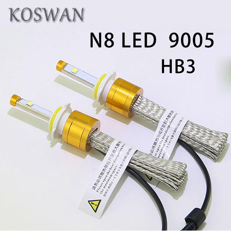Rocket N8 9005 80W 9600LM Cree LED Headlight Conversion Kit Driving Lamp HB3 xenon white,bule,pink,green,yellow CAR led Lamp<br><br>Aliexpress